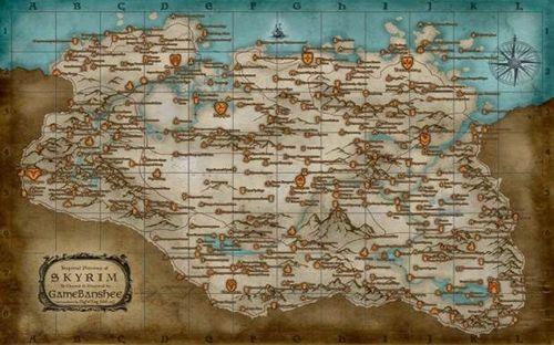 Коды на карту на Скайрим